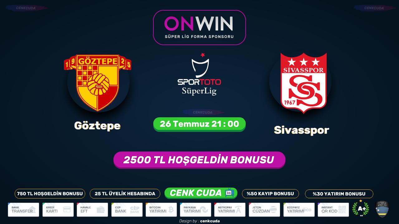 Göztepe - Sivasspor Matbet tv benin sport 1 izle - Canli maç izle