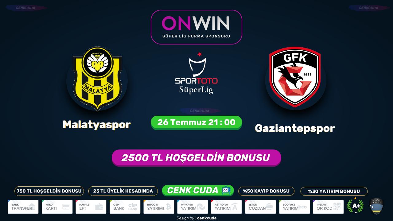 Yeni Malatyaspor - Gaziantep FK - Betpark tv canli maç izle - Bein sport 1