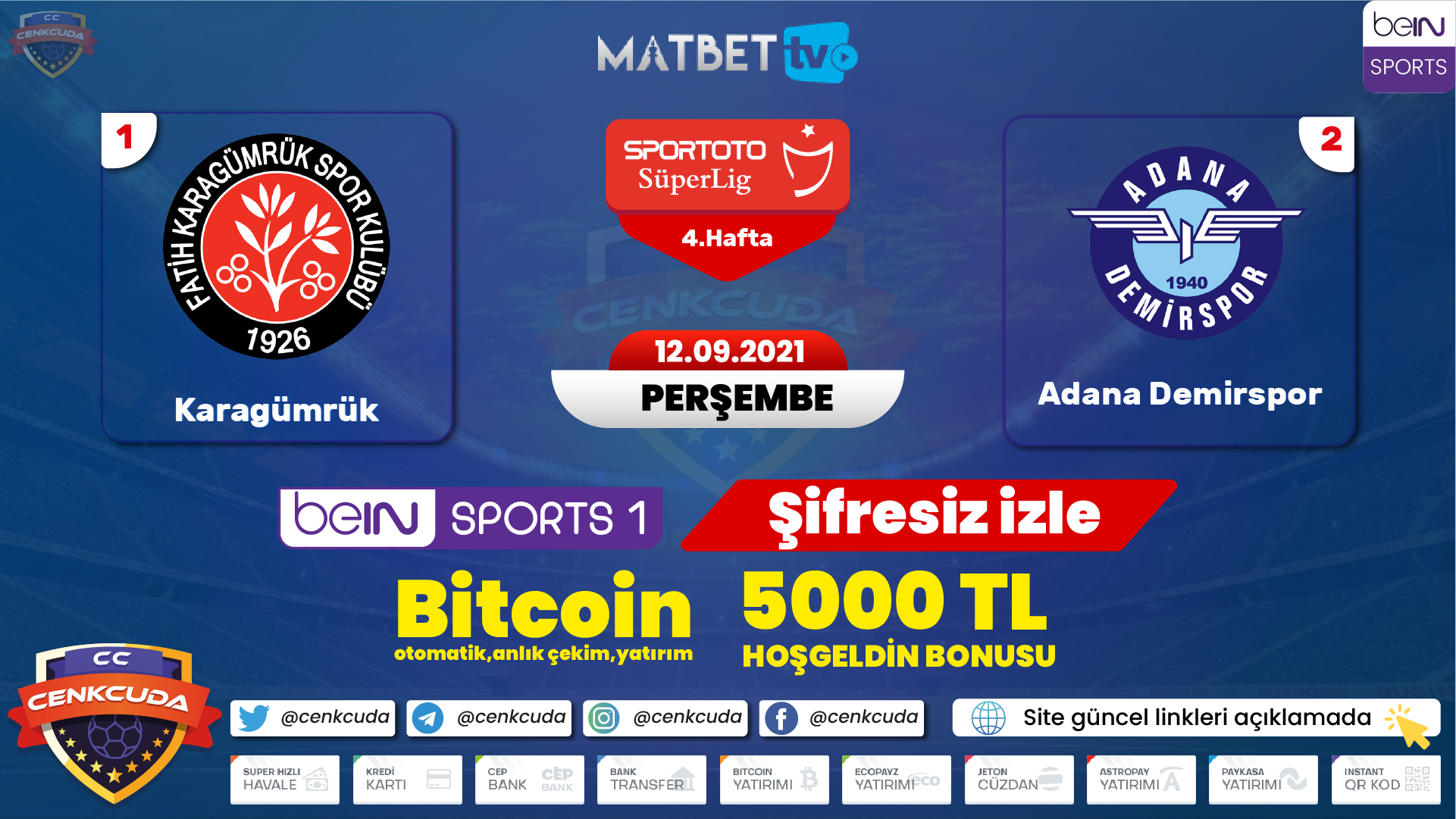 Fatih Karagümrük Adana Demirspor